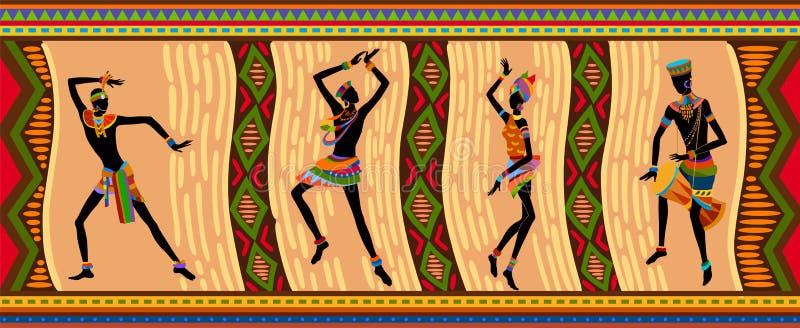 Etnicznego tana afrykańscy ludzie royalty ilustracja