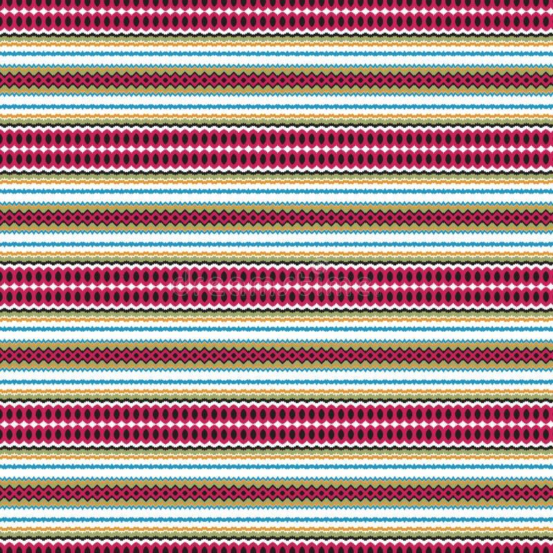 Etnicznej Rodzimej eleganci Abstrakcjonistyczne Dynamiczne Bezszwowe płytki Cool tło wzór ilustracji
