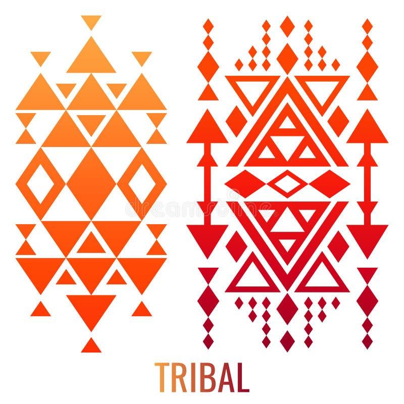 Etniczni lub plemienni ornamentów elementy ilustracji