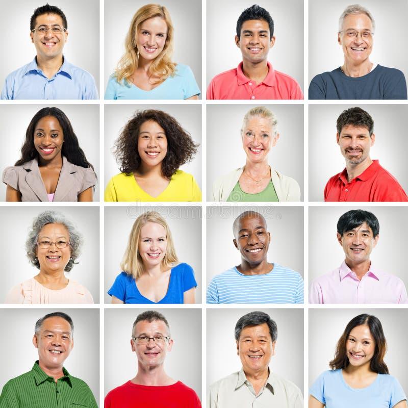 Etniczni portrety zdjęcia stock