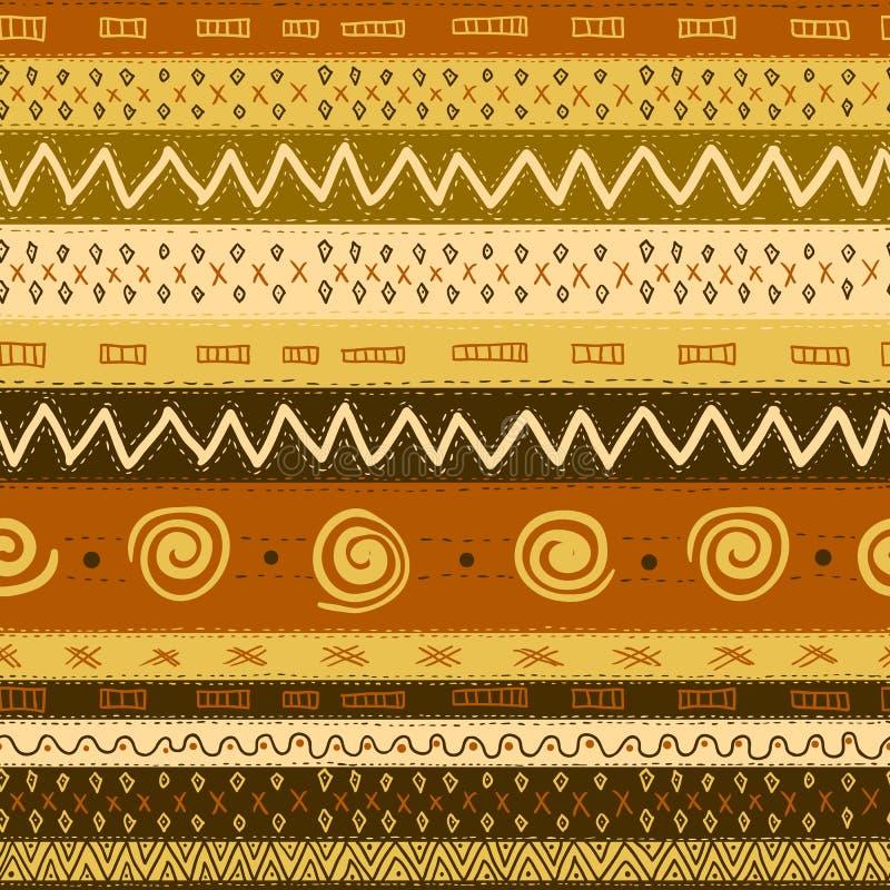 Etniczny Afrykański Bezszwowy tło ilustracji