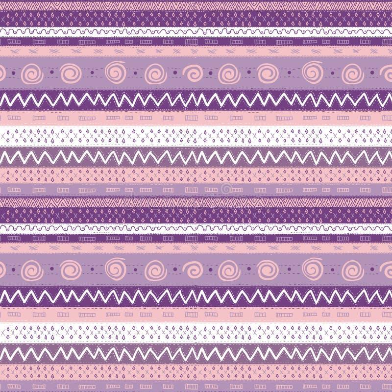 Etniczny Afrykański Bezszwowy tło royalty ilustracja