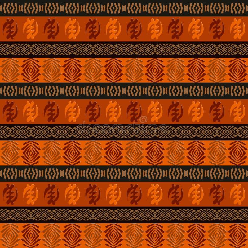 Etniczny afrykański bezszwowy wzór royalty ilustracja