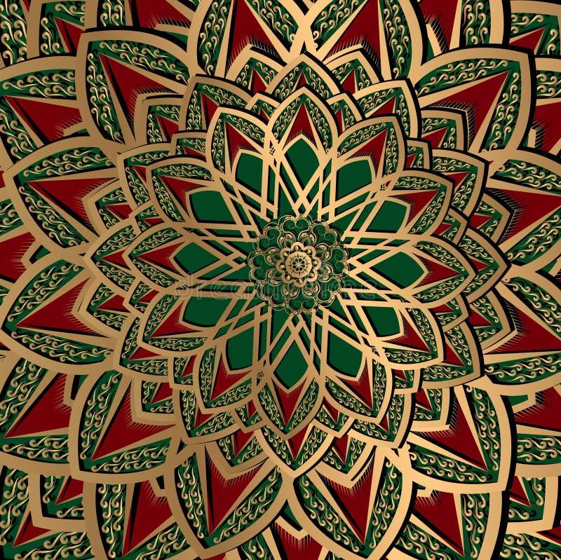 Etniczny arabeskowy turecki tło wzór royalty ilustracja