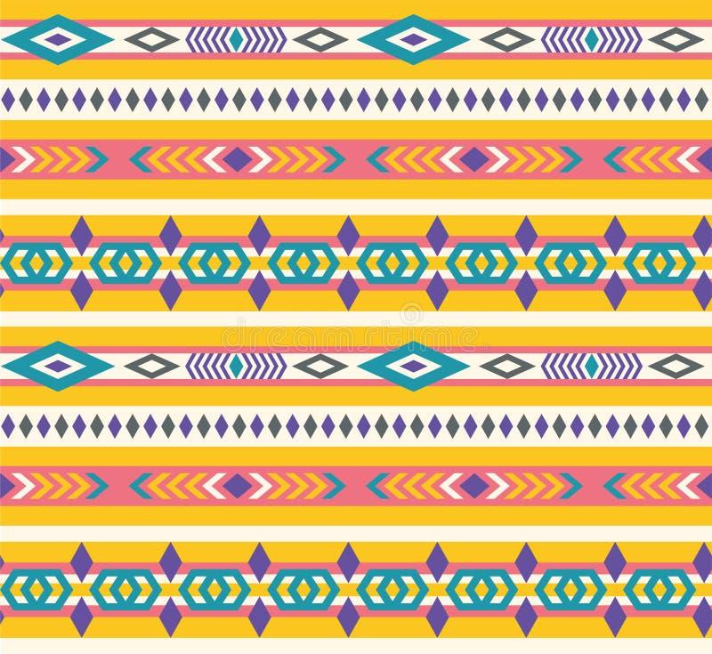 Etniczny bezszwowy aztec wzór ilustracji