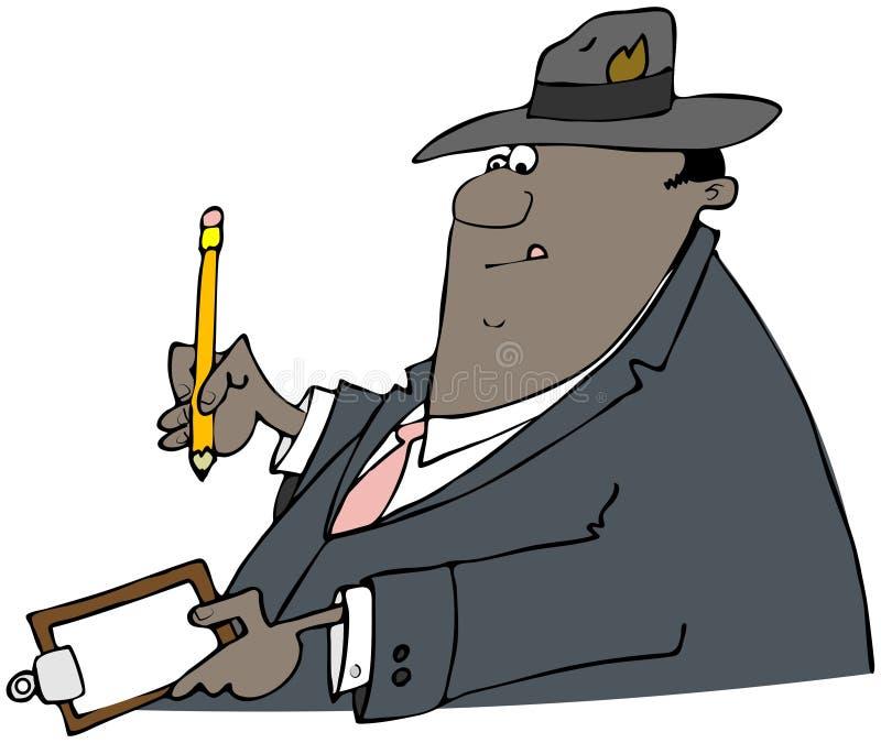 Etniczny biznesmena writing na schowku ilustracja wektor