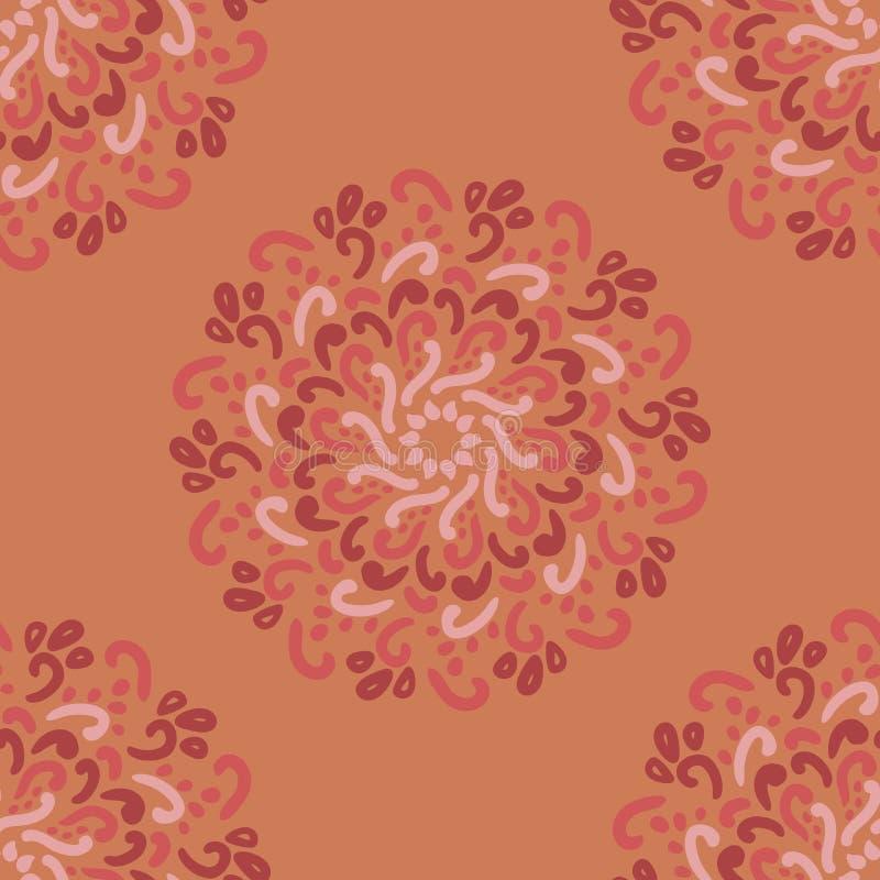 etniczny deseniowy bezszwowy Abstrakcjonistyczny Orientalny mandala tło Rocznika wzajemne zrozumienie dla tapety, tkaniny, tkanin ilustracja wektor