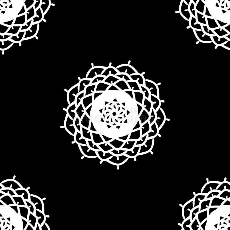 etniczny deseniowy bezszwowy Abstrakcjonistyczny Orientalny mandala t?o dla tapety, tkanina, tkanina, papier, strony internetowej ilustracja wektor