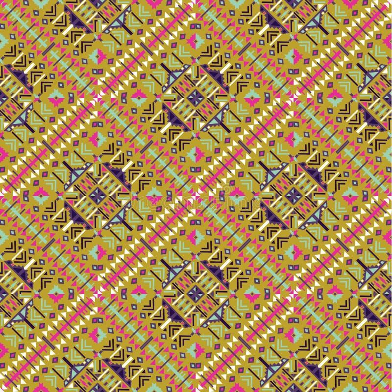 etniczny deseniowy bezszwowy Azteka geometryczny tło obraz royalty free
