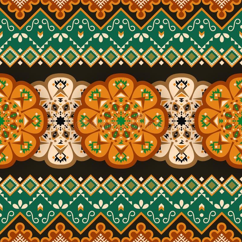 etniczny deseniowy bezszwowy Meksyka?ski geometryczny druk ilustracja wektor