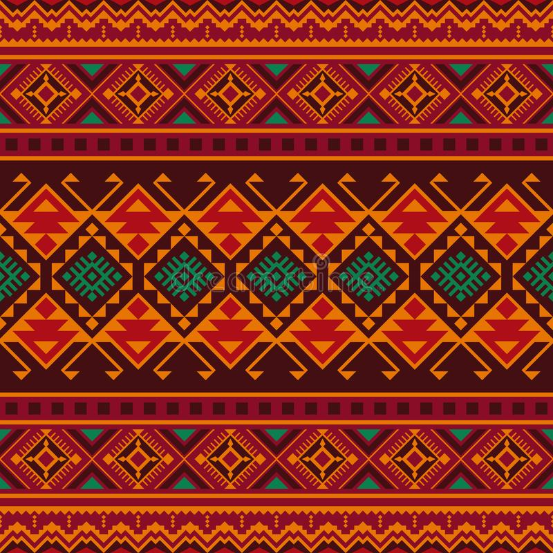 etniczny deseniowy bezszwowy Plemienny kilim ilustracji