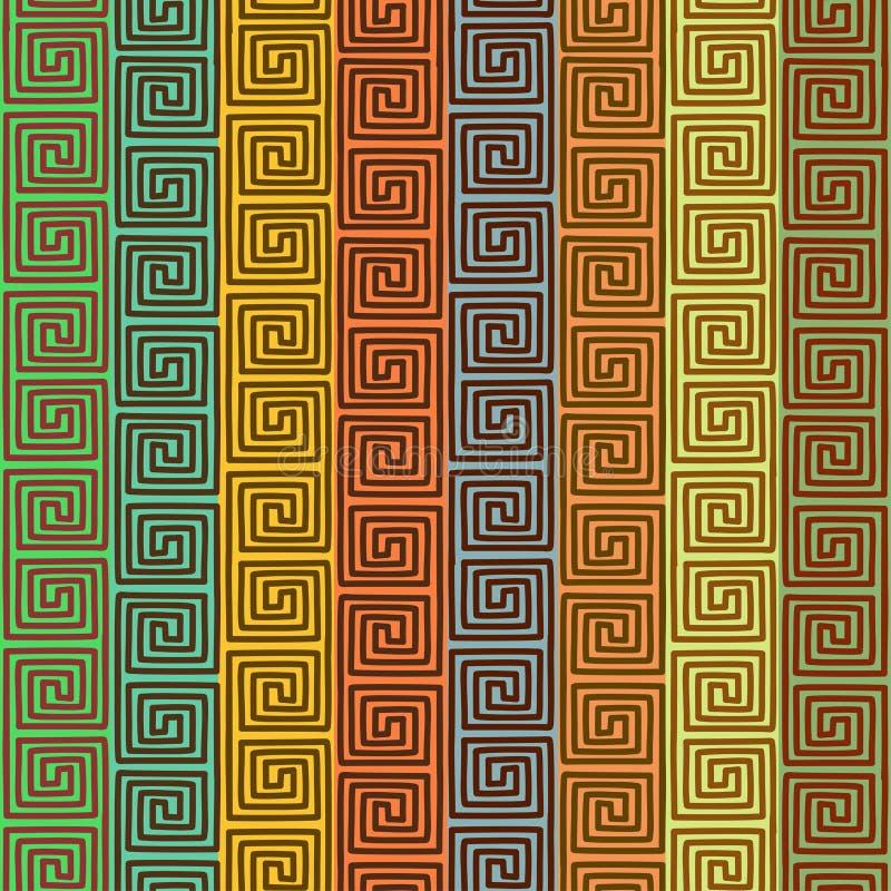 Etniczny geometryczny bezszwowy wzór royalty ilustracja
