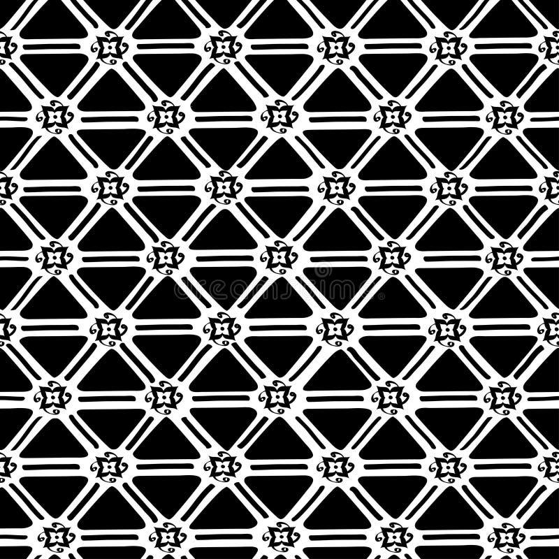 Etniczny geometryczny bezszwowy wzór ilustracji