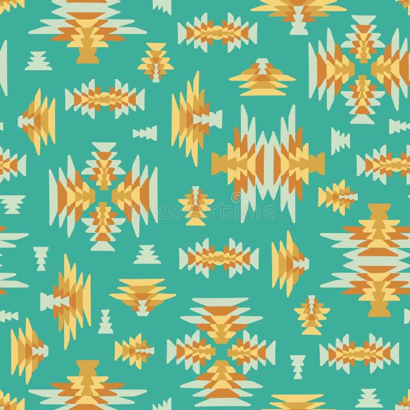 Etniczny geometryczny kilim wyplatający bezszwowy wektorowy tło ilustracji