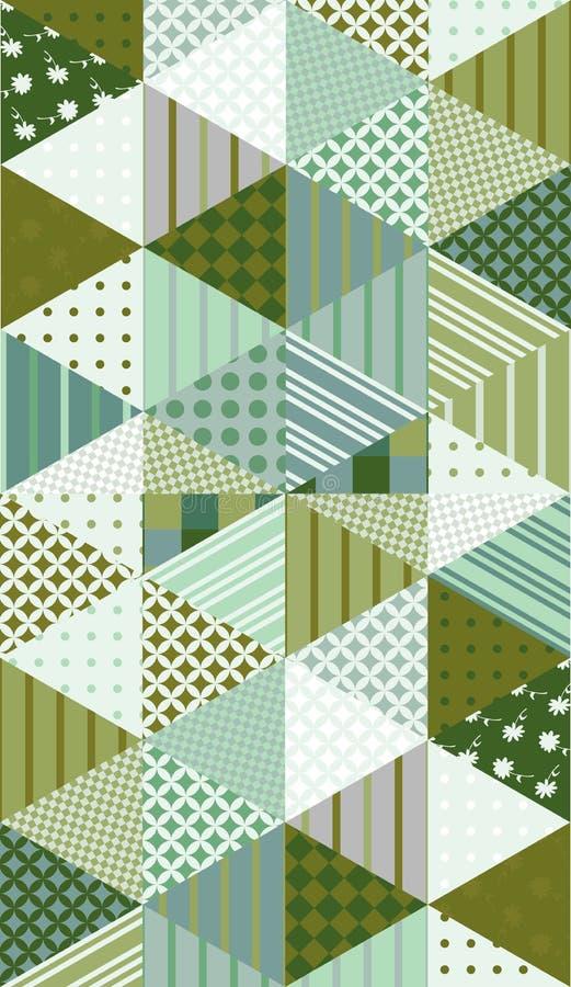 Etniczny multicolor patchworku wzór ilustracyjny bezszwowy wektor ilustracji