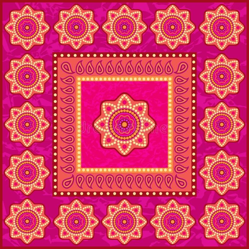 Etniczny ornament w hindusa stylu royalty ilustracja
