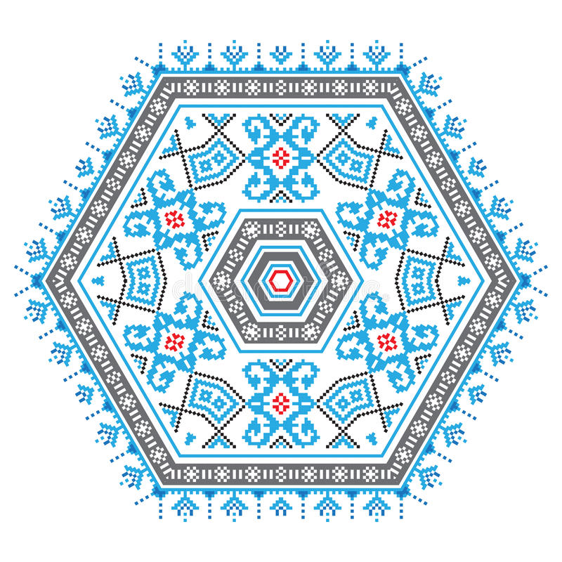 Etniczny ornamentu mandala wzór w różnych kolorach royalty ilustracja