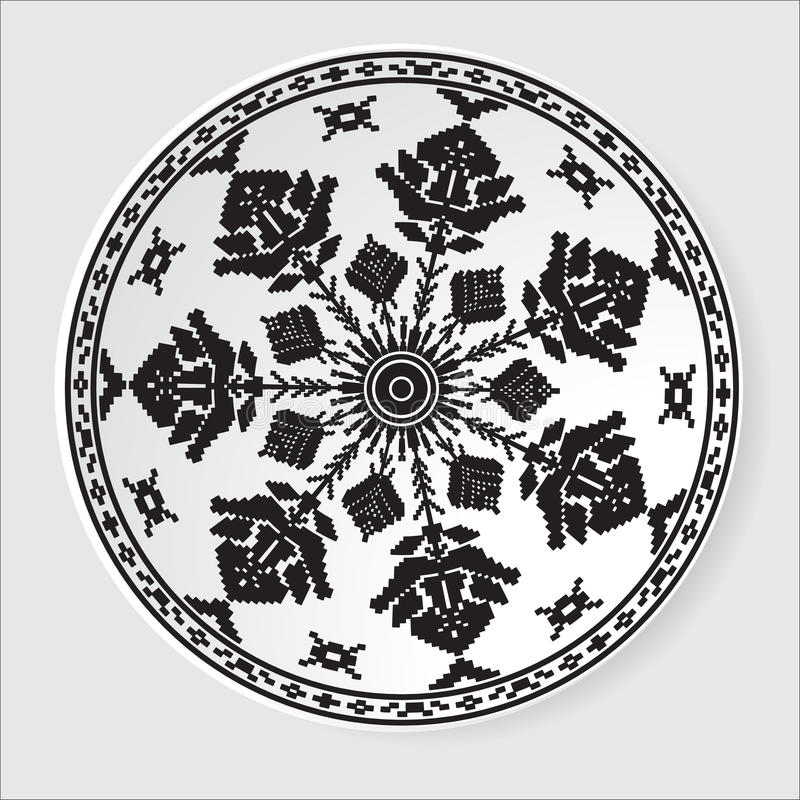 Etniczny ornamentu wzór również zwrócić corel ilustracji wektora royalty ilustracja