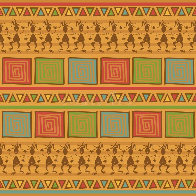 Etniczny plemienny bezszwowy wzór royalty ilustracja