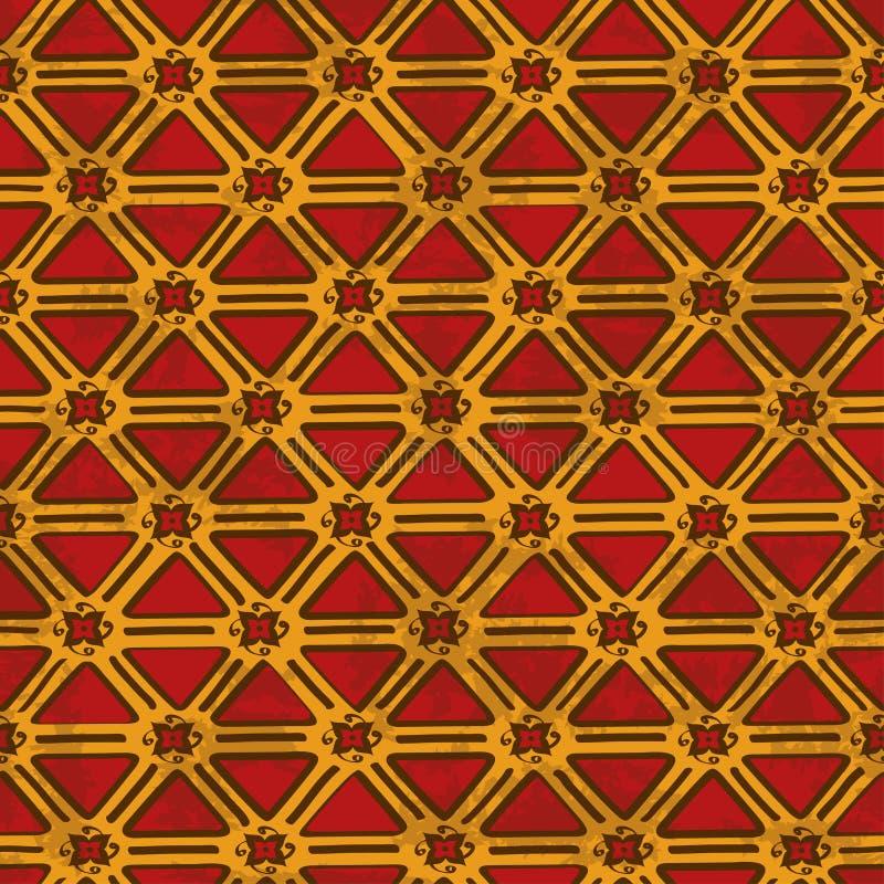Etniczny plemienny geometryczny bezszwowy wzór royalty ilustracja