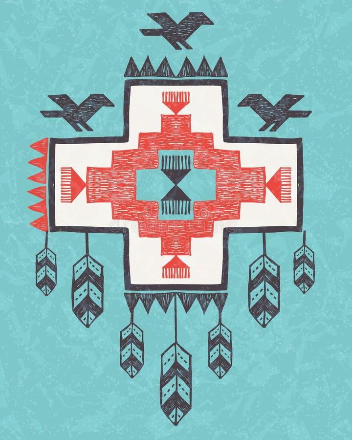 Etniczny plemienny rocznika ornament ilustracji