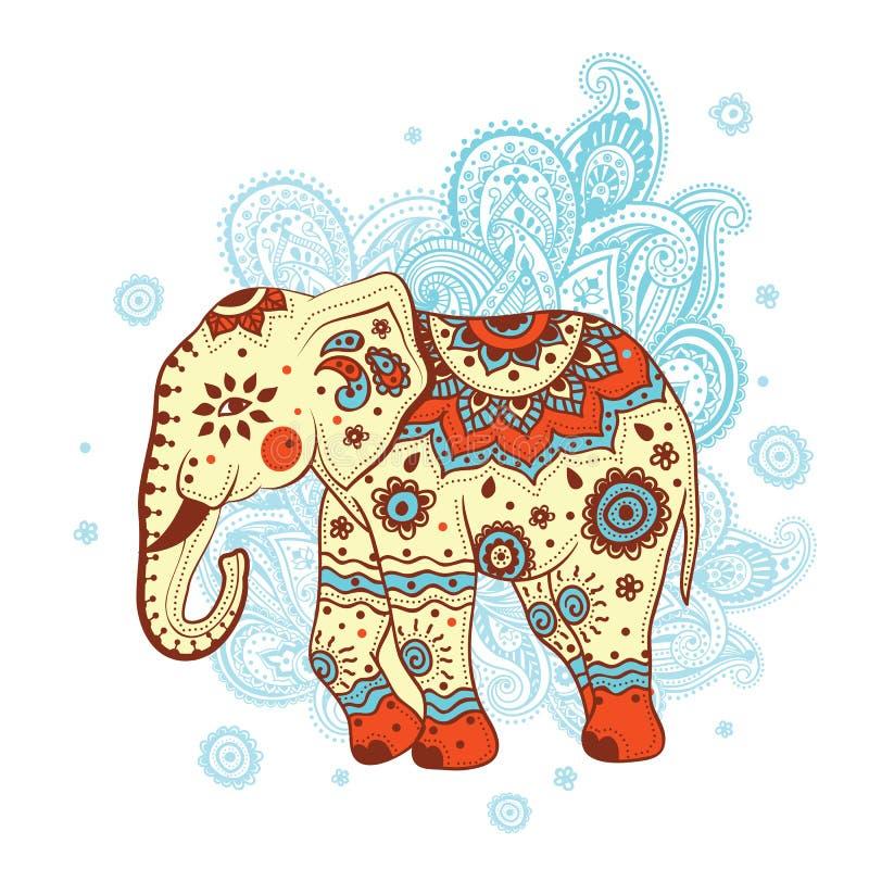 Etniczny słoń ilustracja wektor