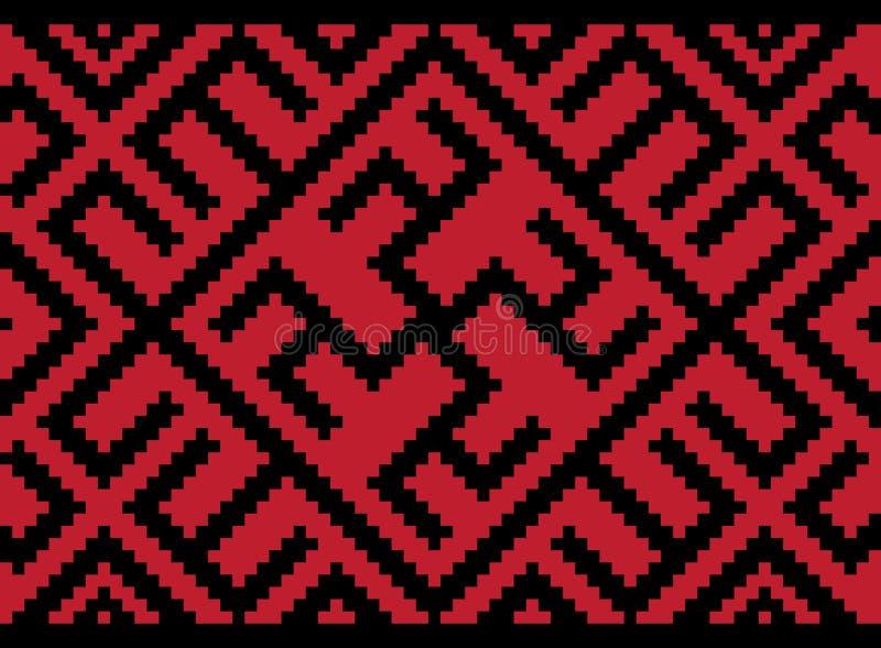Etniczny Ukraiński bezszwowy wzór ilustracja wektor