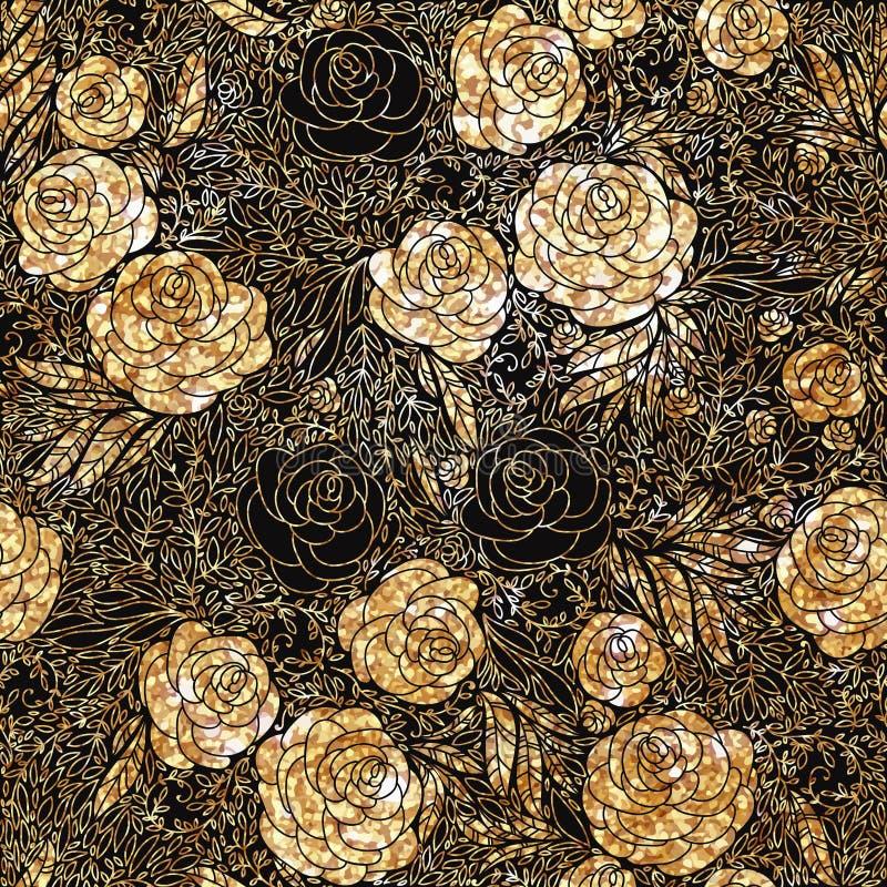Etniczny wzór w zentangle stylu z abstrakcjonistycznym ornamentem dla tkaniny, mody tkanina, opakunkowy papier zdjęcie stock