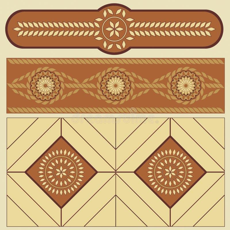 etniczny wzór zaludnia romanian royalty ilustracja
