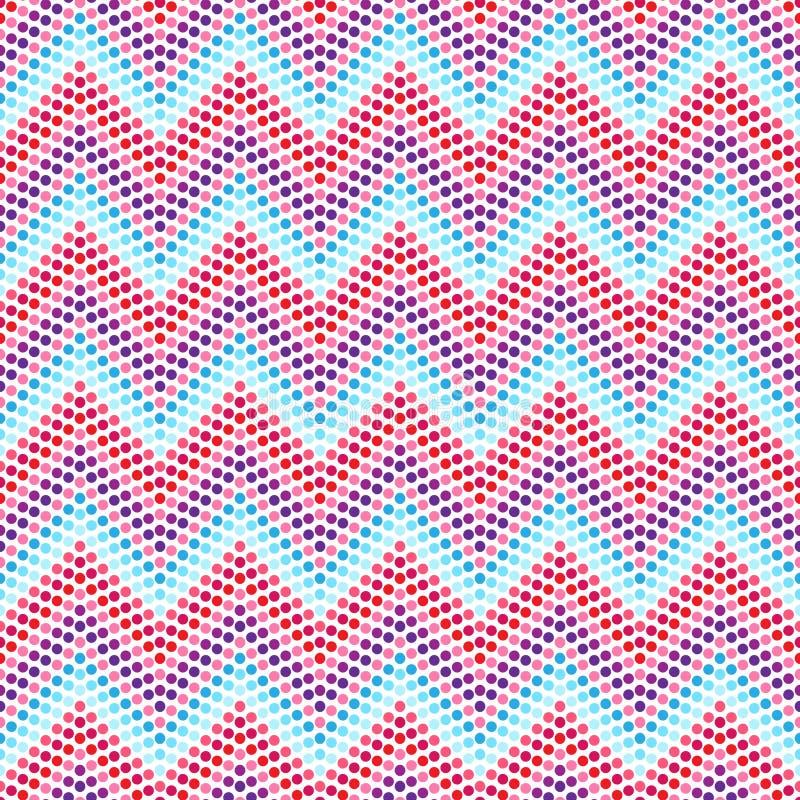 Etniczny zygzakowaty wzór w retro kolorach, aztec styl ilustracji