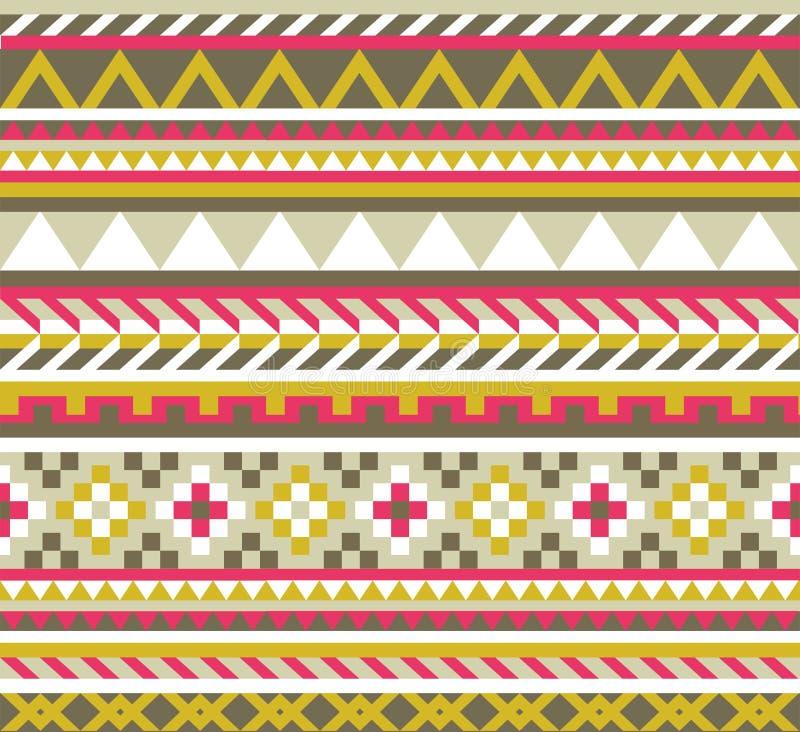Etnisch Azteeks naadloos patroon stock illustratie