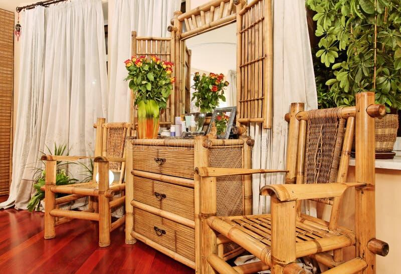 Etnisch bamboemeubilair stock foto