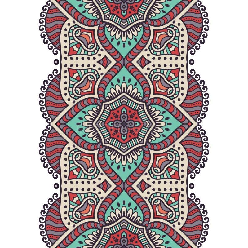 Etnisch bloemen naadloos patroon vector illustratie