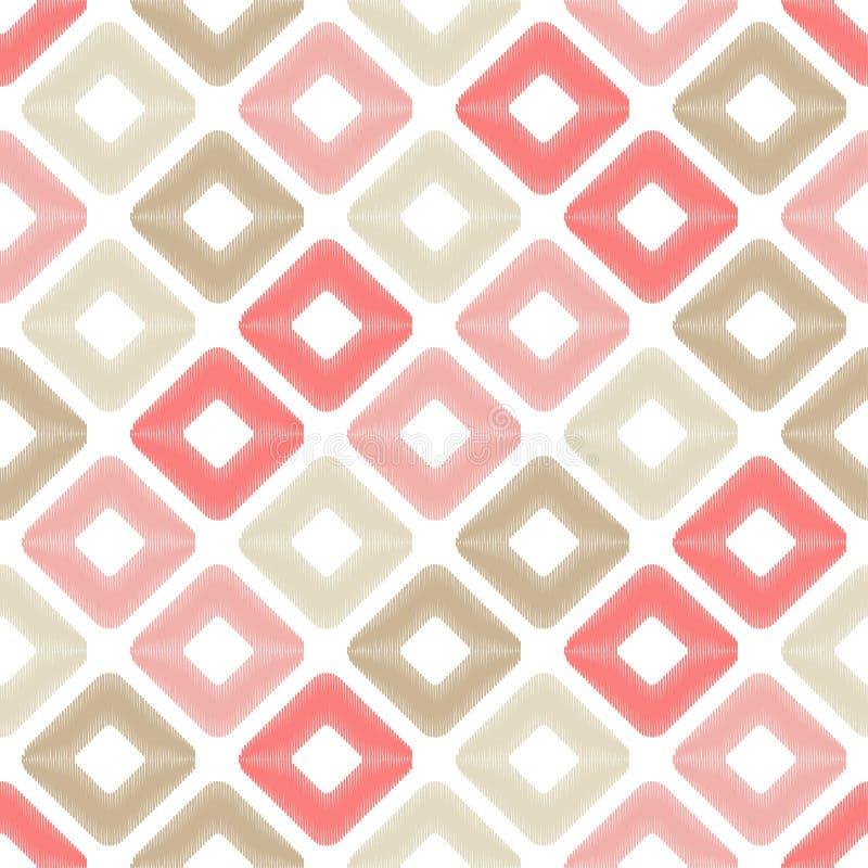 Etnisch boho naadloos patroon Gekrabbeltextuur Retro motief stock afbeelding