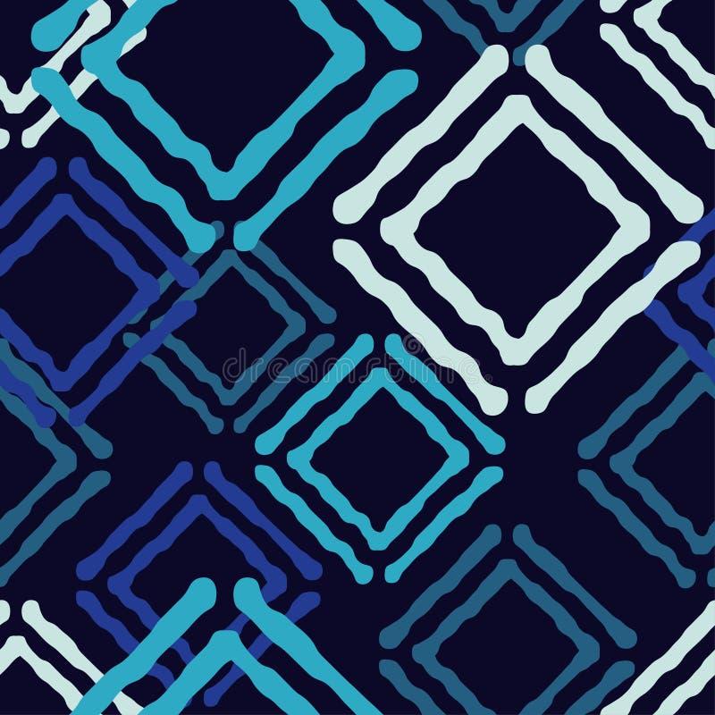 Etnisch boho naadloos patroon Traditioneel ornament Geometrische Achtergrond Stammen patroon Klein ornament met vierkanten vector illustratie