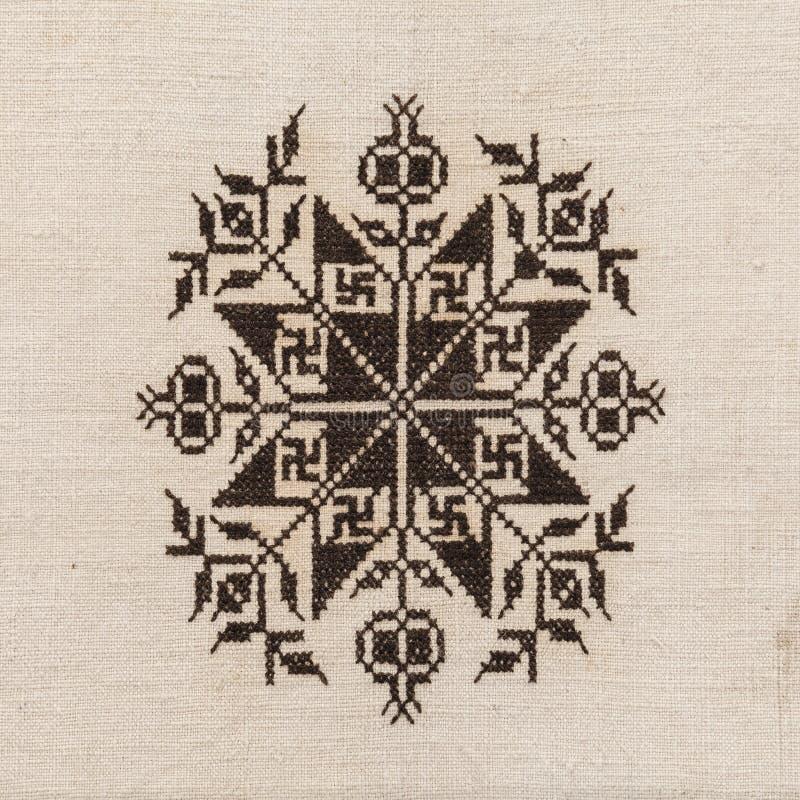 Etnisch borduurwerkpatroon royalty-vrije stock foto