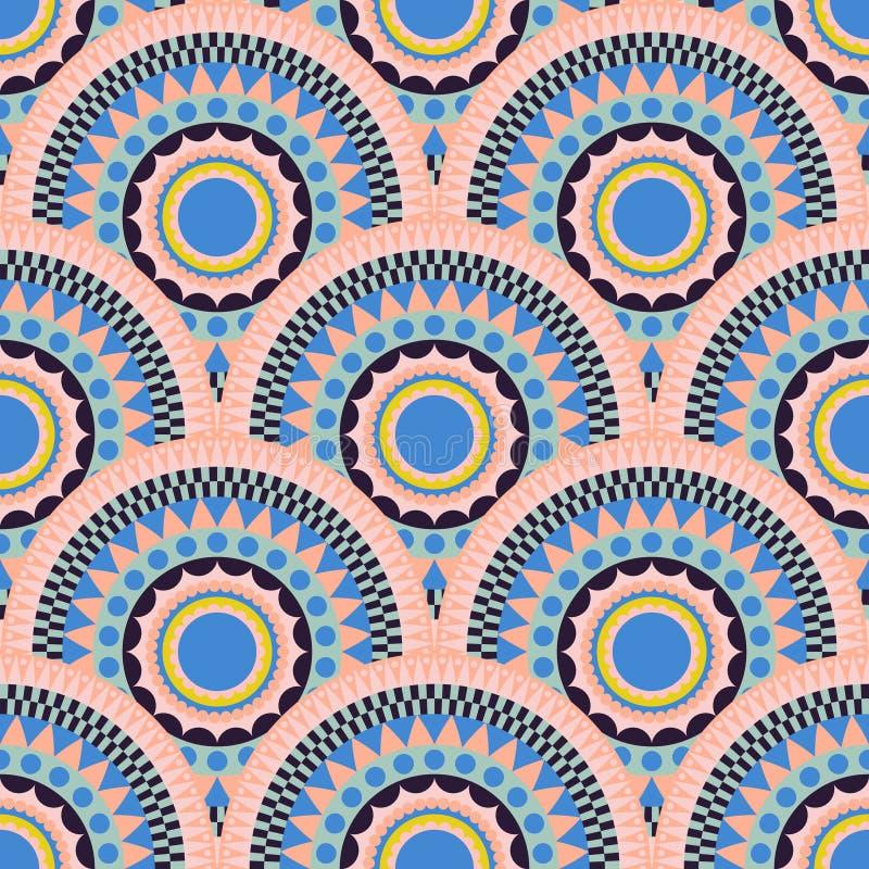 Etnisch het patroon naadloos ornament van de vissenschaal royalty-vrije illustratie