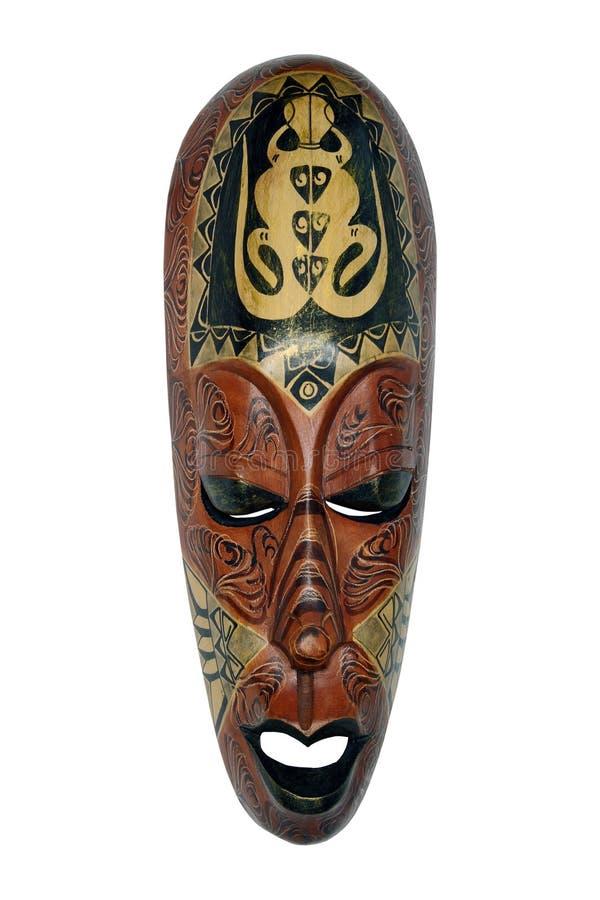 Etnisch masker met de hagedis, Indonesië stock fotografie