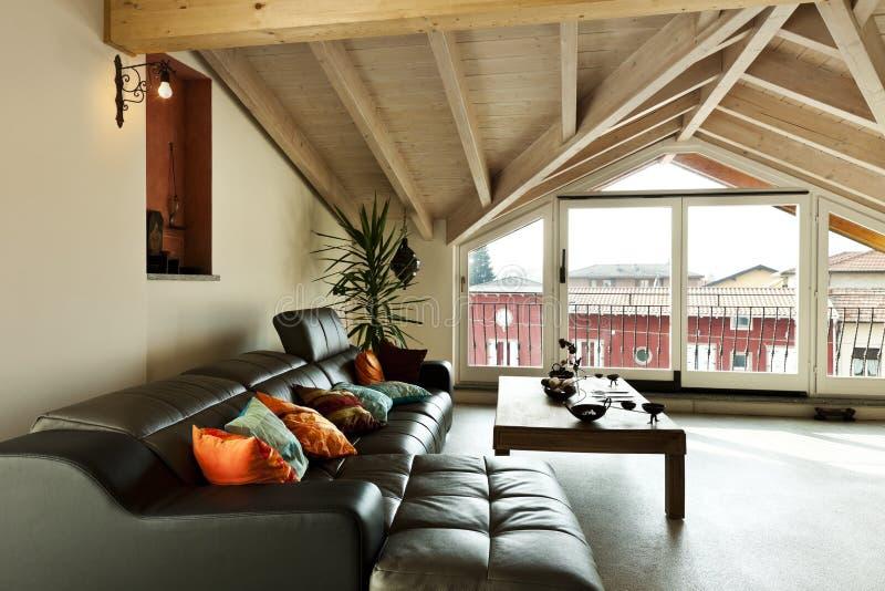 Etnisch meubilair, woonkamer stock afbeeldingen