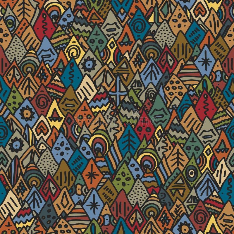 Etnisch naadloos patroon royalty-vrije illustratie