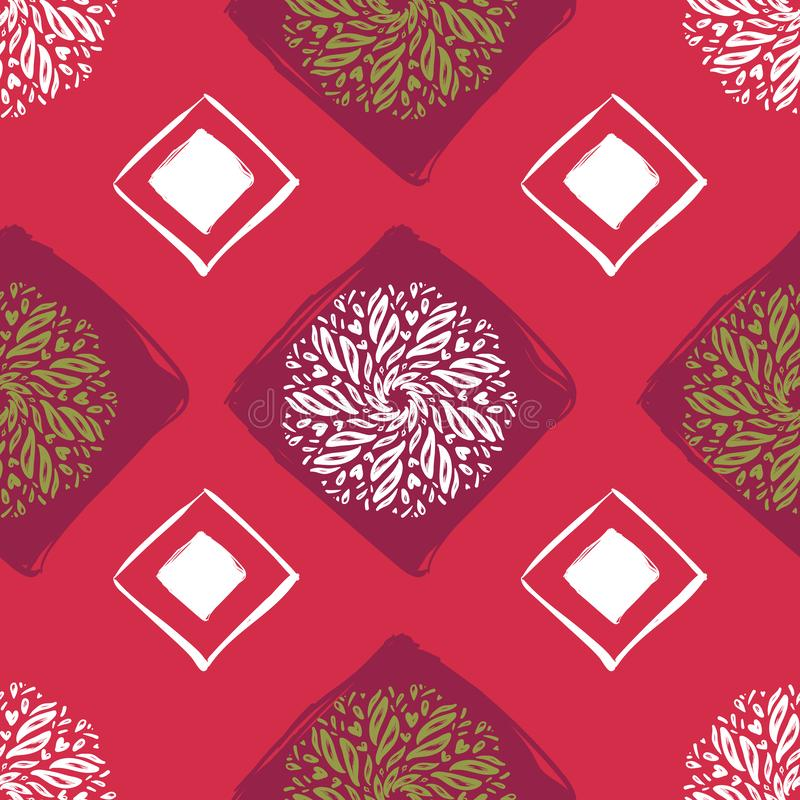 Etnisch naadloos patroon Abstracte Oosterse Mandala Background voor Behang, Textiel, Stof, Document, websiteachtergrond vector illustratie