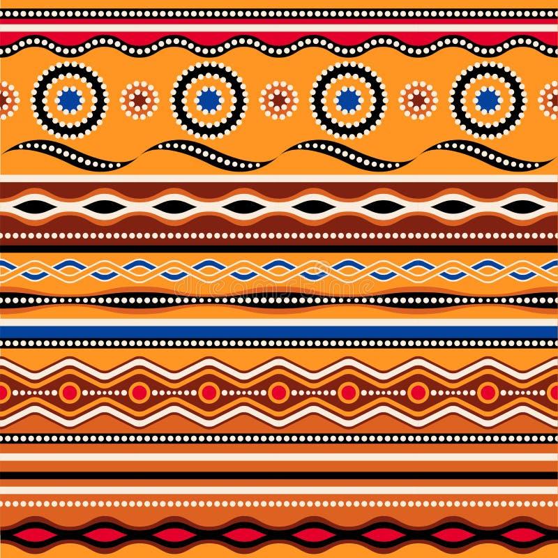 Etnisch naadloos patroon Australisch traditioneel geometrisch ornament royalty-vrije illustratie