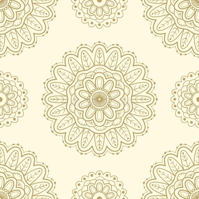 Etnisch naadloos patroon Het ontwerp van het kantpatroon Hand Getrokken vectorachtergrond royalty-vrije illustratie