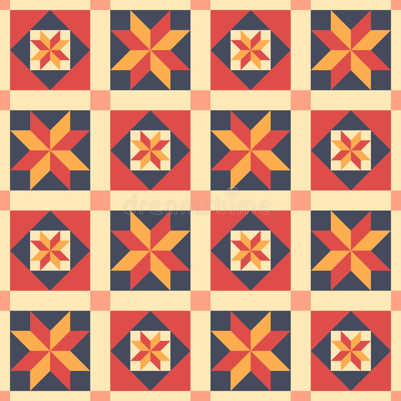 Etnisch naadloos patroon in stijl van lapwerk, vector vector illustratie