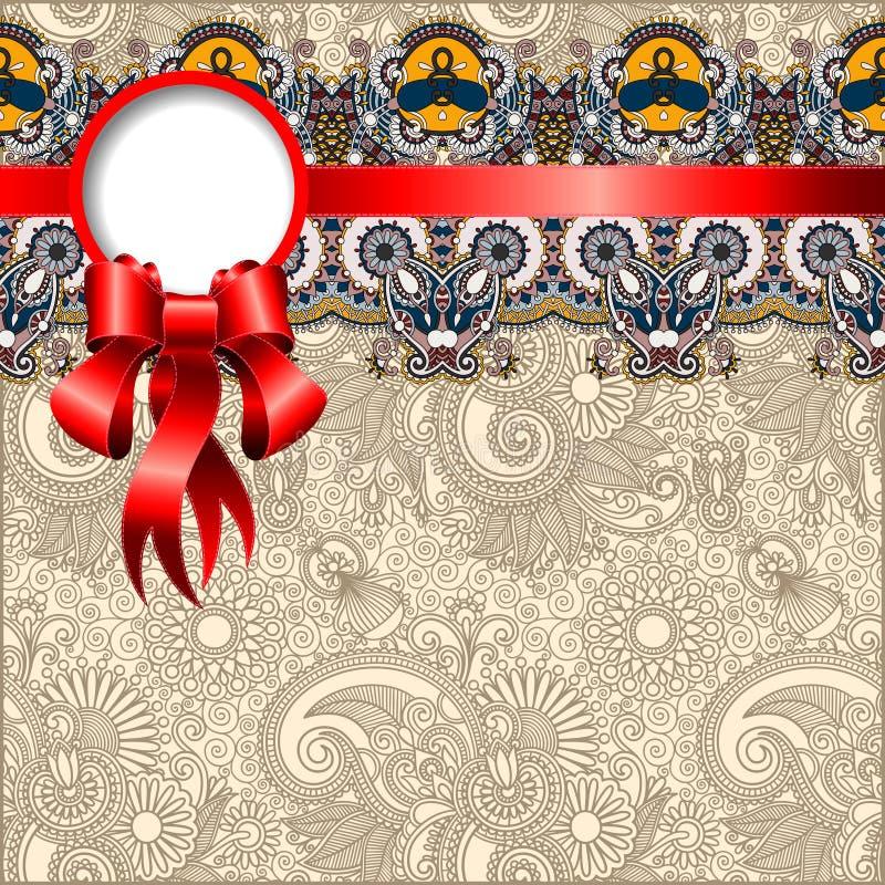 Etnisch sierpatroon met zijdelint vector illustratie