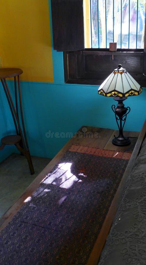 Etnisch Thais huis binnenlands decor stock foto's