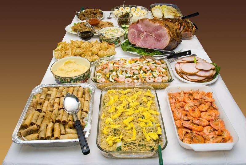 Etnisch voedselfeest stock afbeeldingen