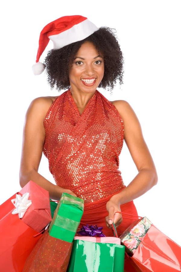 (Etnisch) winkelen van Kerstmis   stock foto