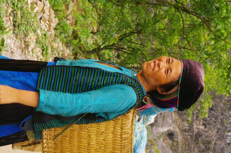 Etnisch wit wijfje Hmong stock foto's