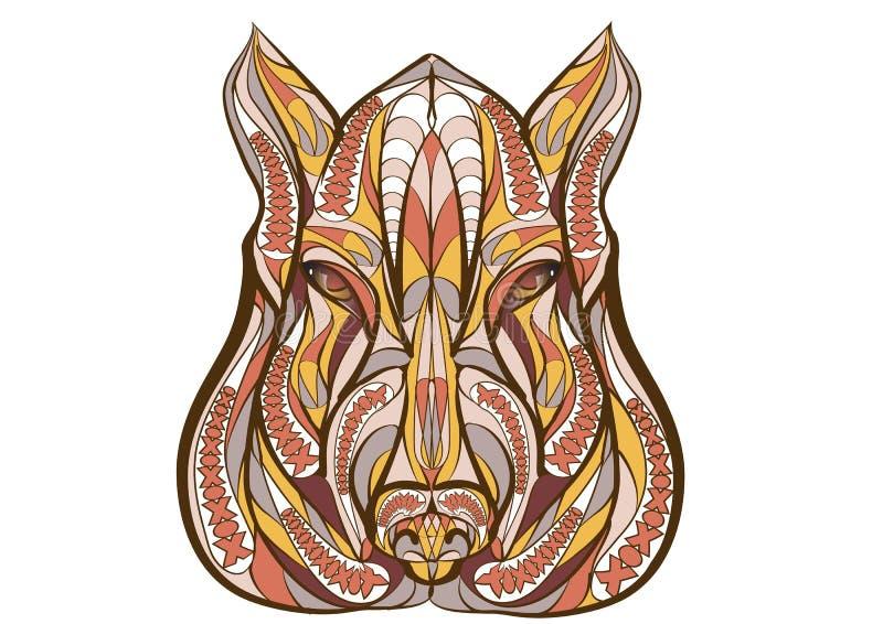 Etnische beer royalty-vrije illustratie